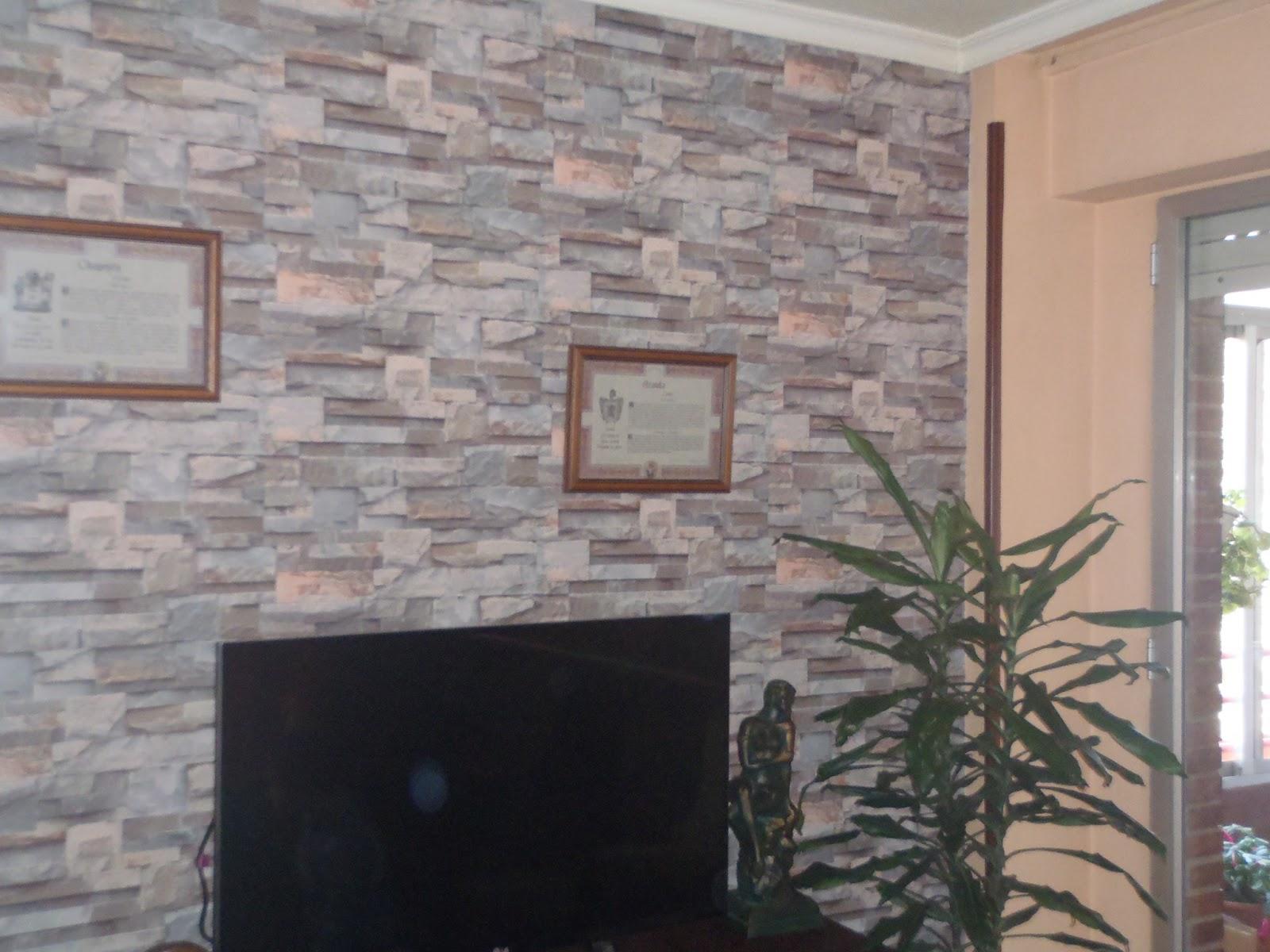 Pinturas ngel zaragoza papel pintado imitaci n piedra - Imitacion a piedra para paredes ...