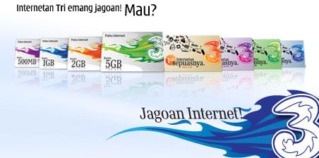 Cara Internet Gratis 3, Tri Terbaru Juni 2018