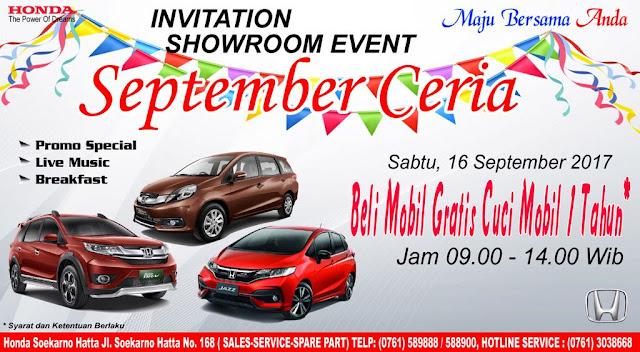 Promo Mobil Honda Pekanbaru Riau