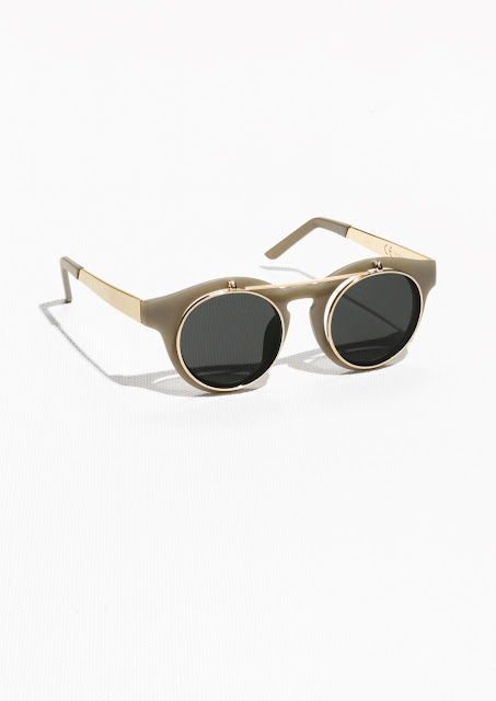 double frame round sunglasses, khaki sunglasses, stories green sunglasses,