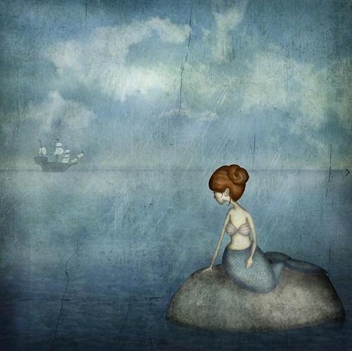 por Maja Lindberg | ilustraciones imaginativas, infantiles, sentimientos y emociones, imagenes bonitas, illustration art, cool stuff, mermaids.