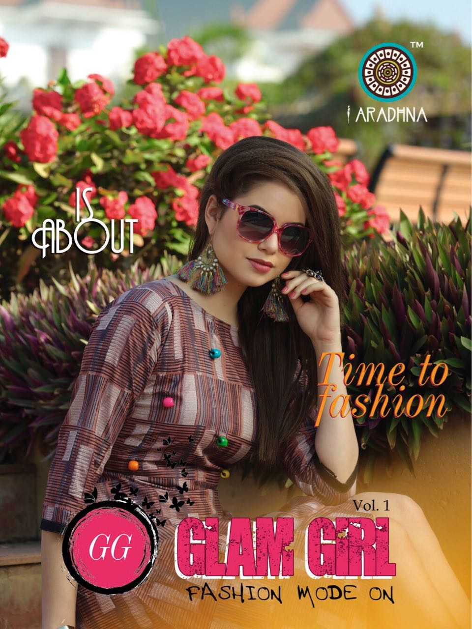 Glam Girl Vol 1 by ARADHNA New Heavy Rayon & Cotton Print With Full Flair