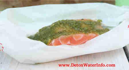 salmon pesto detox diet for weight loss