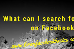 What can I search for on Facebook?