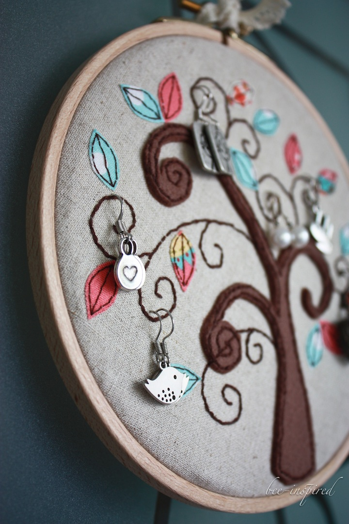 Bee Inspired Earring Embroidery Ring Tutorial