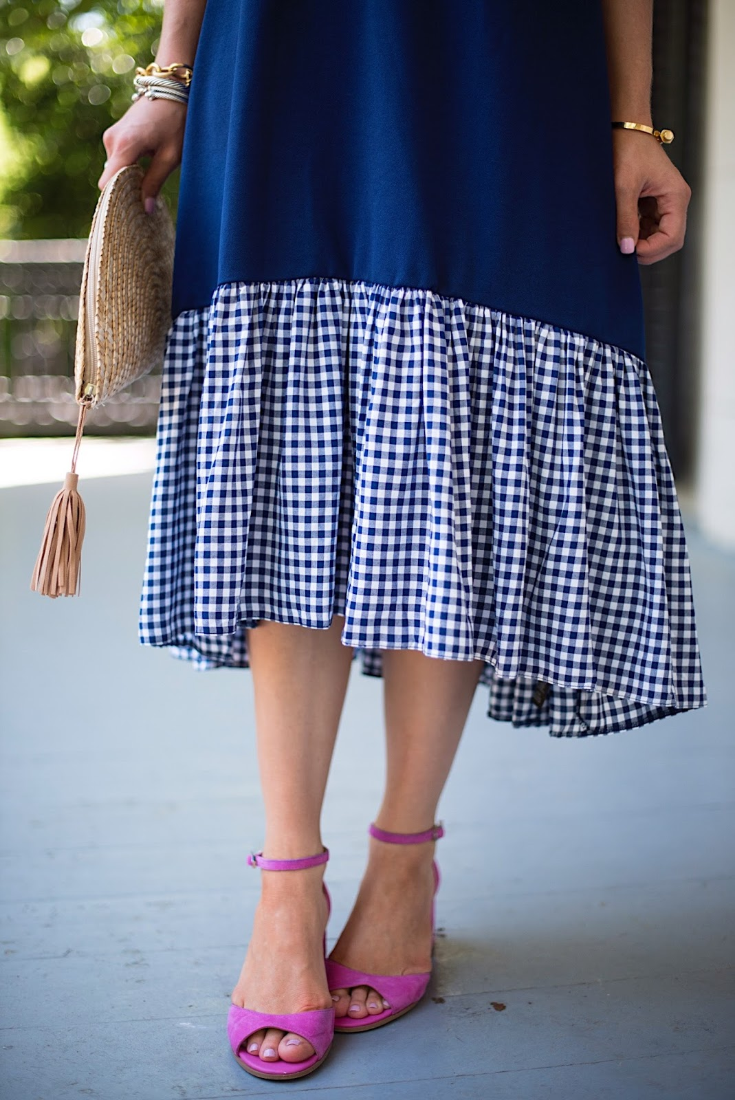 Gingham Hem Dress (Only $61) - Click through to see more on Something Delightful Blog