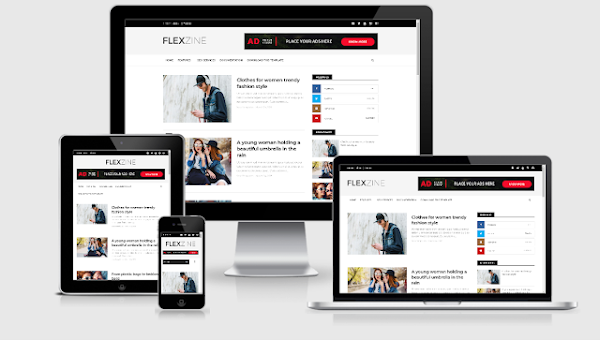 Flexzine Simple Responsive Blogger Template