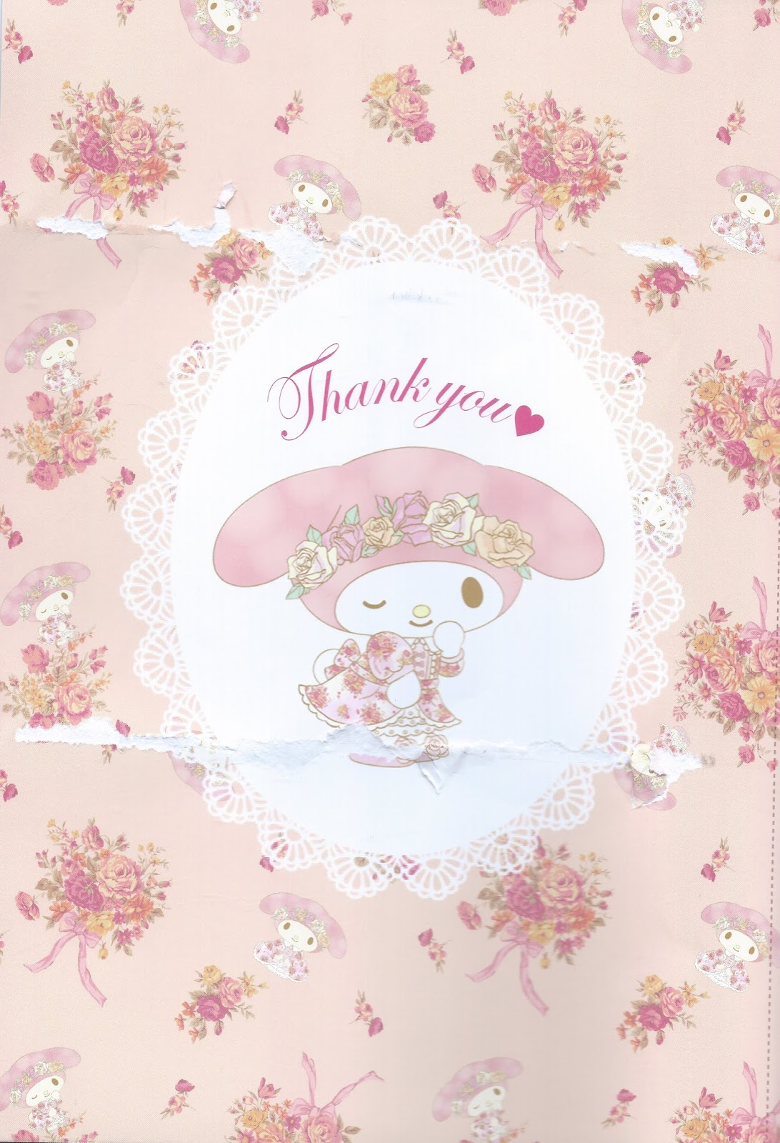 This Thank You Page Had The Tote Bag Glued To It Which Is Why Looks A Bit Haggard Lol Super Cute With Adjustable Ribbon Handle And