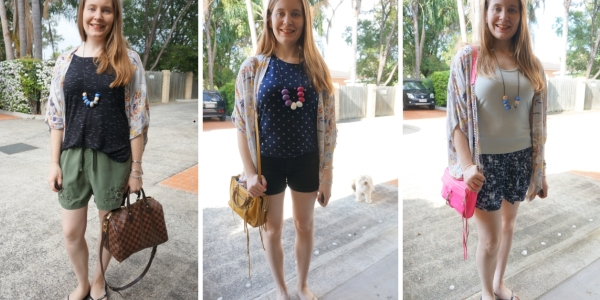 floral kimono #30wears 3 different ways to print mix | awayfromblue blog