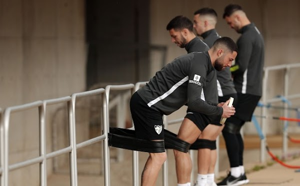 El Málaga mantiene el plan de trabajo físico para las dos próximas semanas