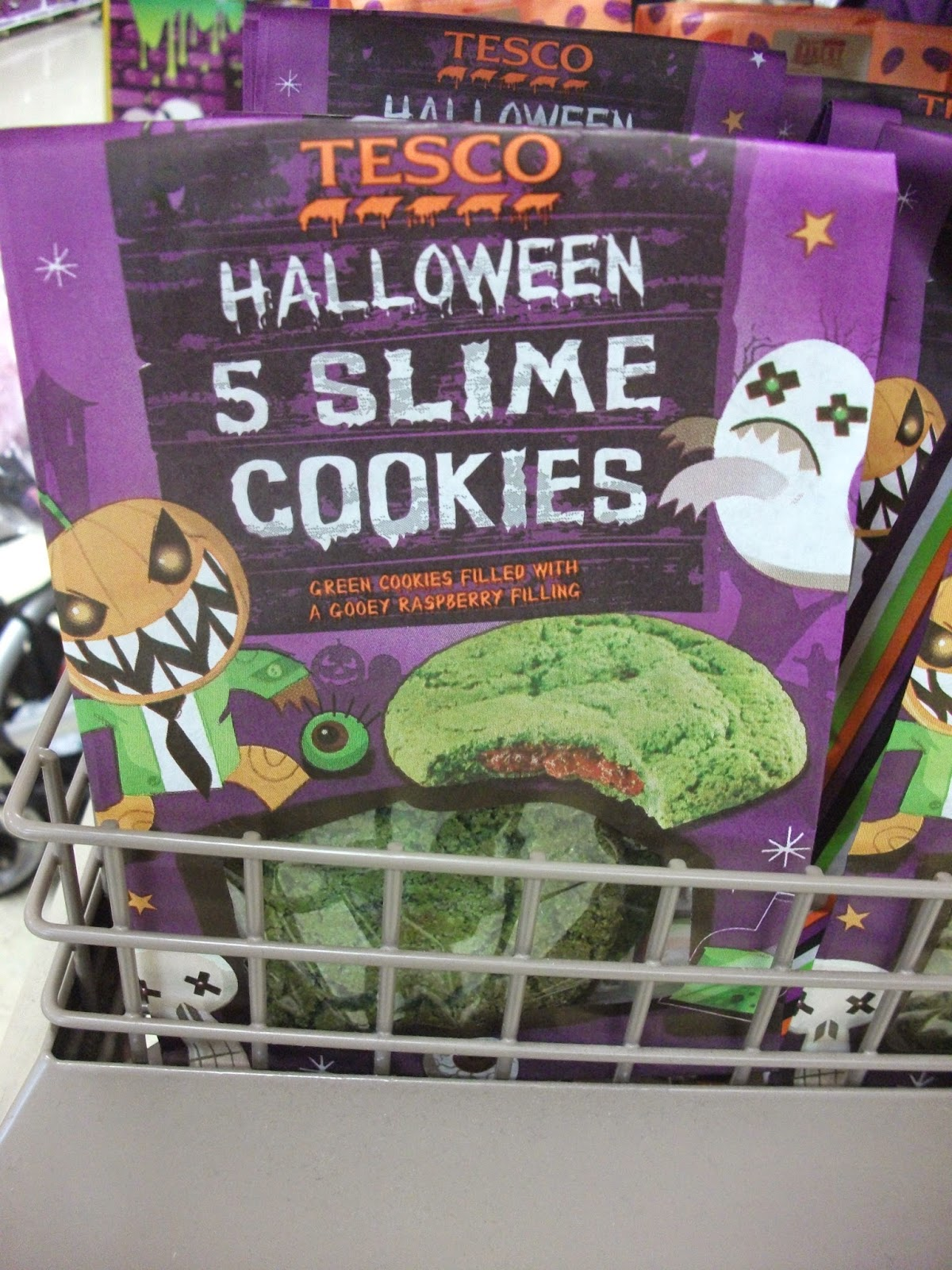 Halloween Stuff Tesco Slime Cookies Chocolate Skulls