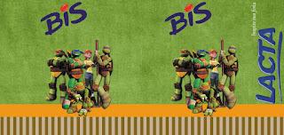 Etiquetas de Tortugas Ninja para imprimir gratis.