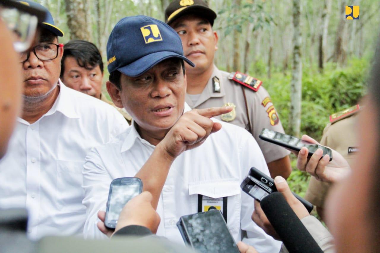 Kementerian PUPR Berikan Bantuan Perbaikan Jalan Poros Trans Batumarta di Kabupaten OKU Sumsel