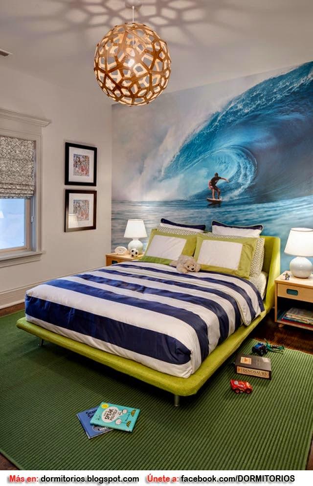 Dormitorio surf for Murales dormitorios juveniles