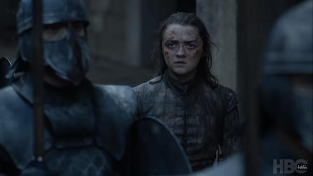 Arya Stark en una de las escenas del trailer del episodio fina.