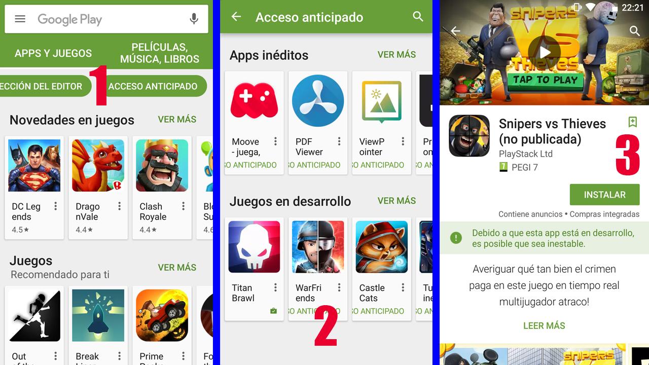 Jugar a Juegos Android antes de que salgan