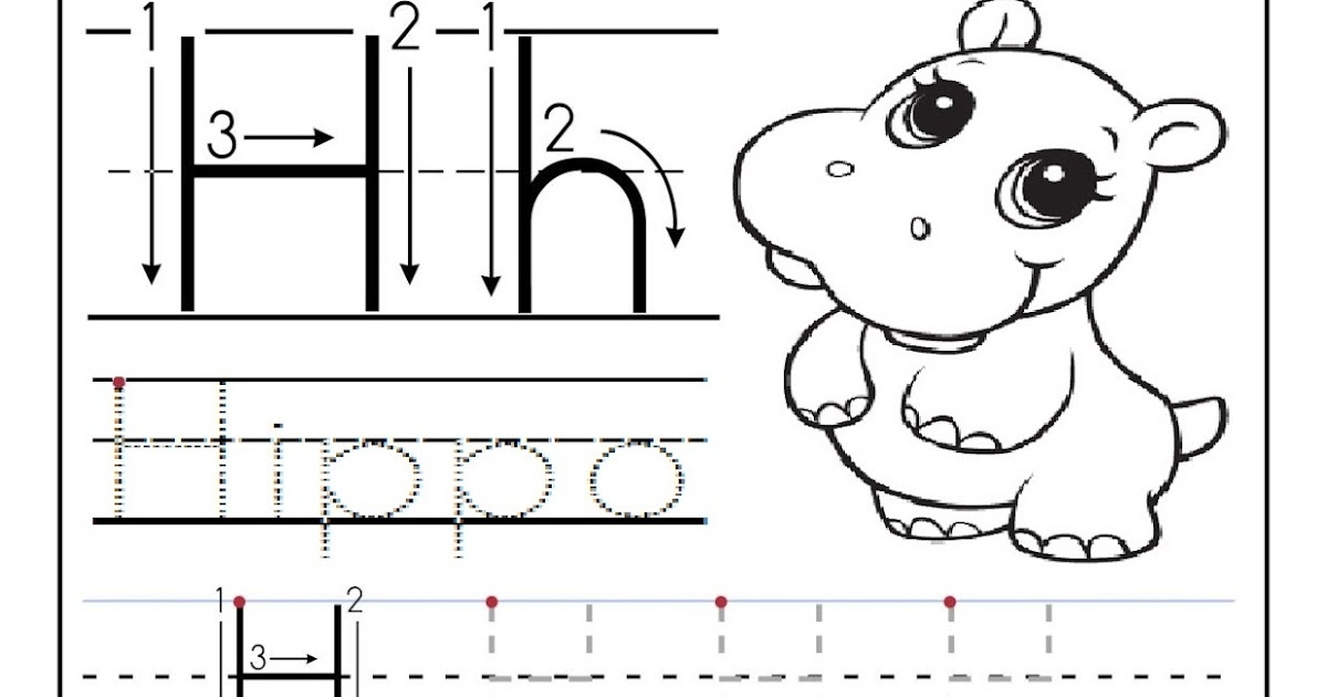 free printable worksheet letter h for your child to learn and write didi coloring page. Black Bedroom Furniture Sets. Home Design Ideas