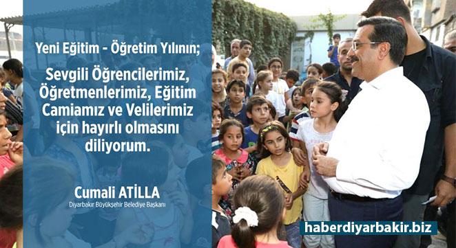 Cumali Atilla, öğrenciler ve öğretmenlere başarılar diledi