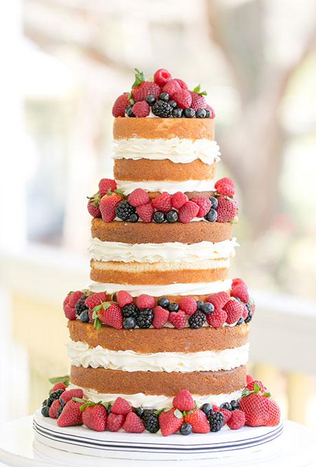 naked cake, tort rustykalny z owocami, naked cake z truskawkami, naked cake z malinami