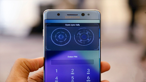 Image result for iris recognition note 7
