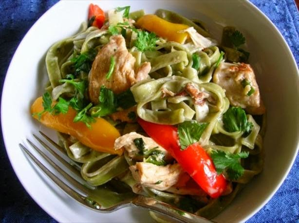 Chicken Tequila Fettuccine Recipe