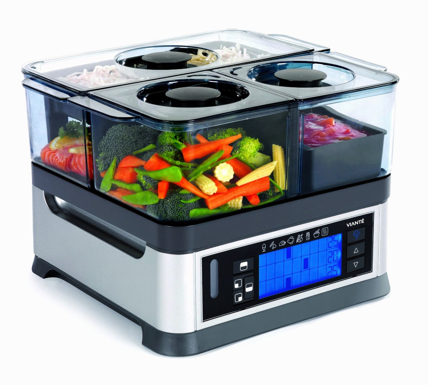 Viante CUC-30ST Intellisteam Counter Top Food Steamer with 3 Separate Compartments, picture, review features & specifications