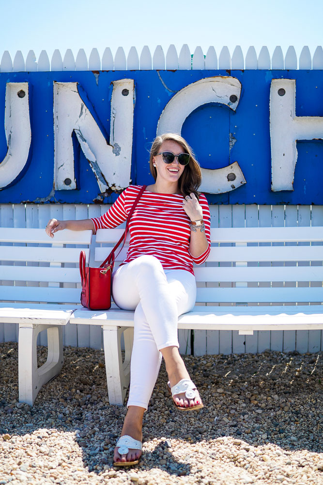 Saint James Stripe Shirt, Lobster Roll, Hamptons NYC