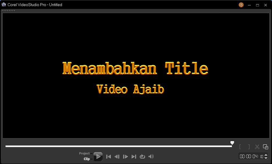 Menambahkan Title Video Pada Corel Video Studio