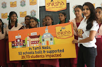 Actress Priya Anand in T Shirt with Students of Shiksha Movement Events 29.jpg