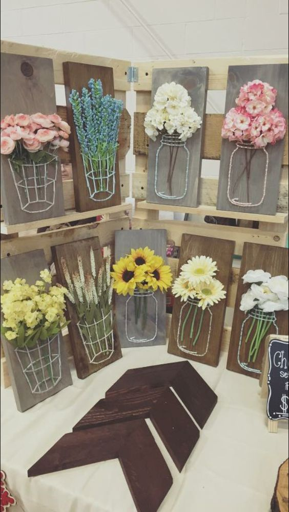 And I Fell In Love When Found These Examples Of Mason Jar String Art Wanted To Model Mine After But Also Add My Own Creativity Into It