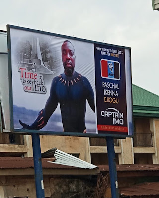 Imo Governorship Aspirant Looking Like Blackpanther