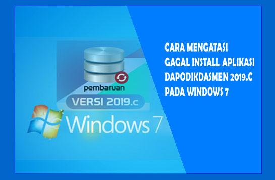 gagal install dapodikdasmen windows 7