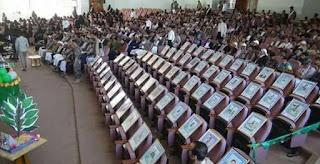 Foto Para Mahasiswa Korban Teroris Syiah Houtsi Turut Hadir dalam Upacara Wisuda di Yaman