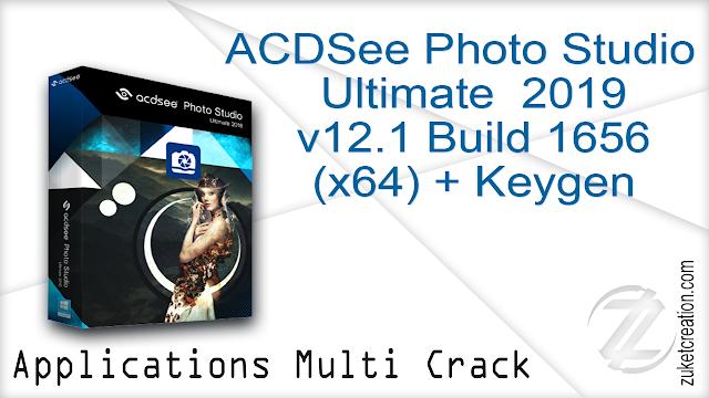 ACDSee Photo Studio Ultimate 2019 v12.1 Build 1656 (x64) + Keygen