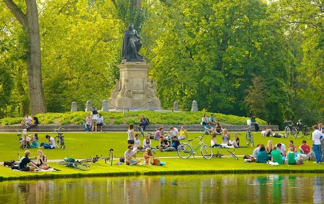 Visita ao Parque Vondelpark em Amsterdã