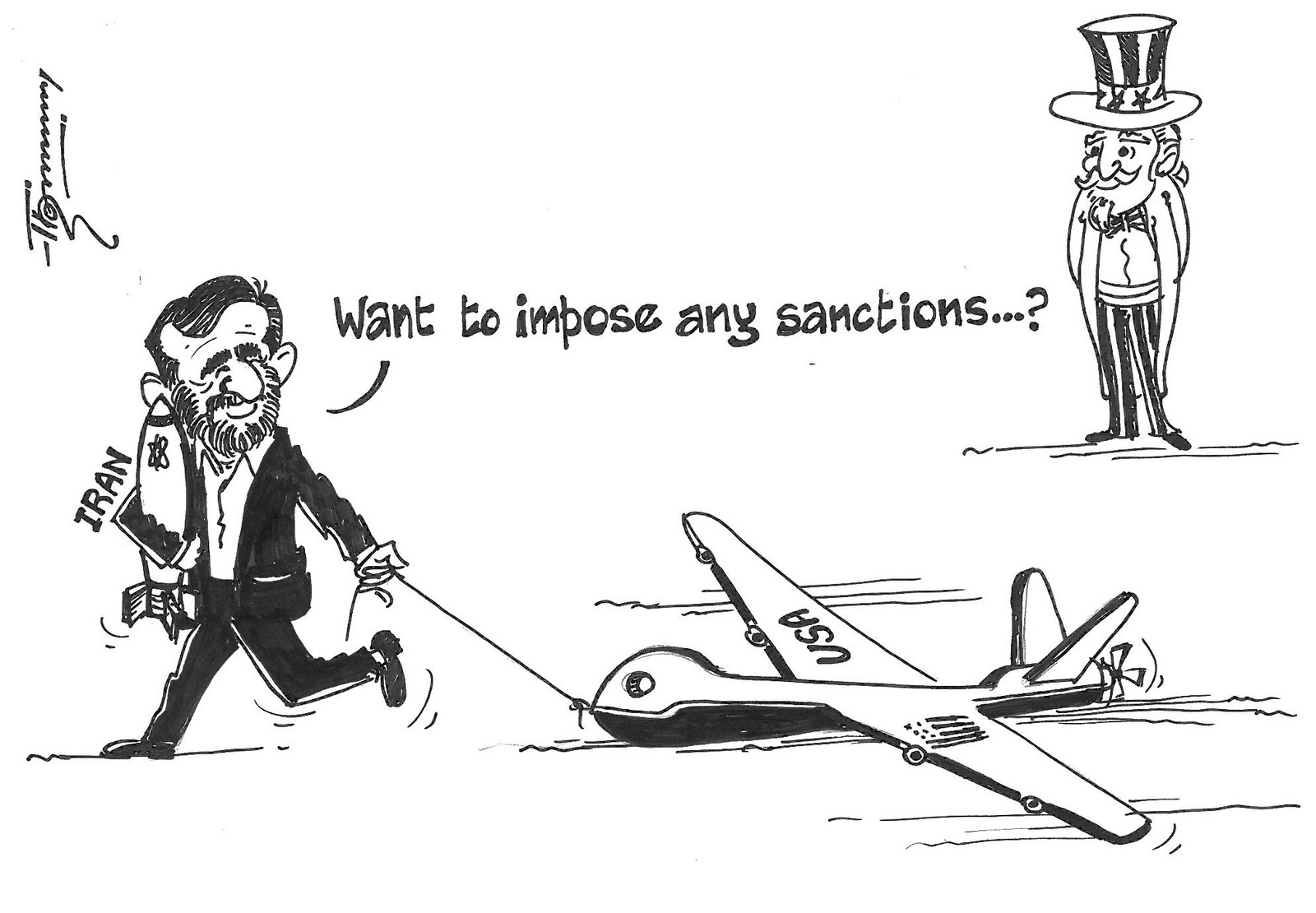 Drawn Opinions The Drone In Iran