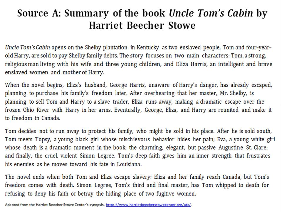 uncle tom's cabin a feminist novel Uncle tom's cabin quotes (showing 1-30 of 187) the longest way must have its close - the gloomiest night will wear on to a morning ― harriet beecher stowe, uncle tom's cabin.