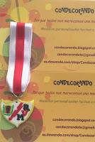 Medalla escudo en fimo del rayo Vallecano