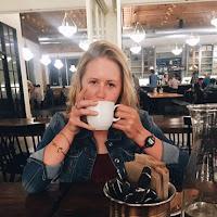 Photo of Anna Ingemann drinking coffee.