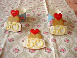 Galletas 50 aniversario de boda