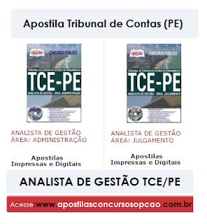 Apostila concurso TCE PE - Tribunal de Contas-PE - Analista de Gestão.