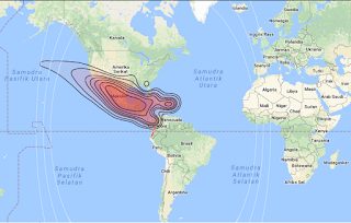 Satellite Beam Coverage Sky Mexico 1 78.8°W KU Band