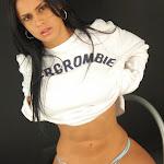 Andrea Rincon, Selena Spice Galeria 19: Buso Blanco y Jean Negro, Estilo Rapero Foto 115