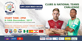 Arsenal Team in Nigeria for COPA Lagos 2017