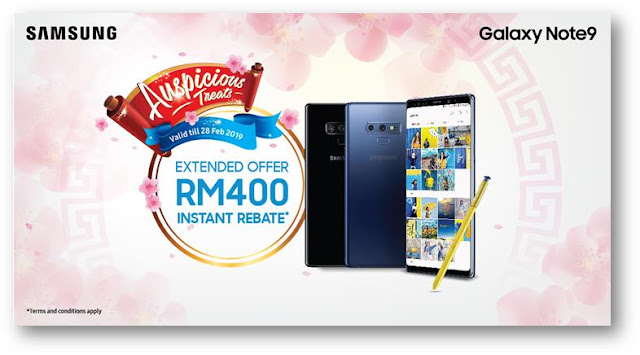 Samsung Extended Offer RM400 For Galaxy Note9