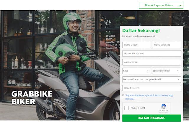 Cara daftar ulang driver Uber motor ke Grabbike