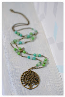 sautoir zen bronze vieilli et vert