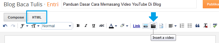 Panduan Dasar Cara Memasang Video YouTube Di Blog Blogger