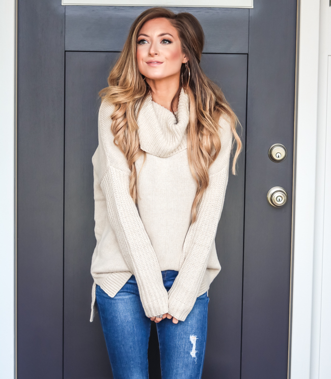 ugg cowl neck sweater
