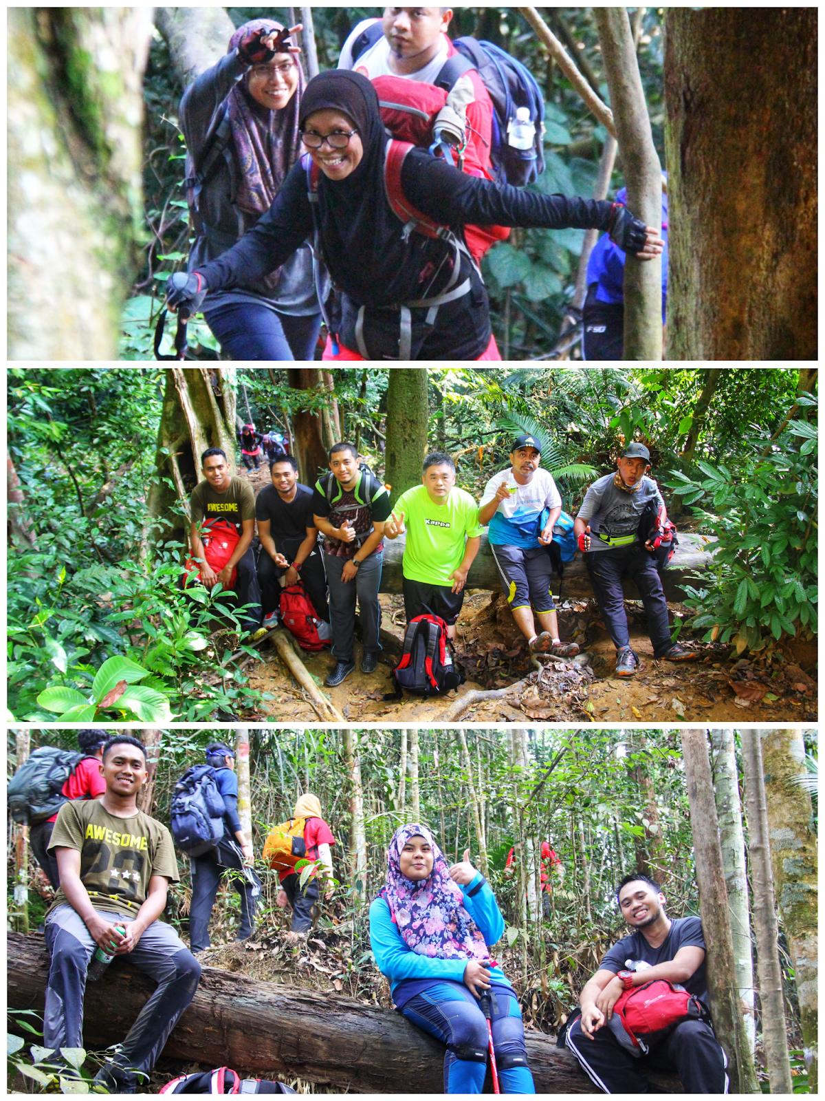 Berehat sebelum meneruskan pendakian Bukit Kutu